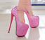 Womens-Platform-Super-High-Heels-Round-Toe-Pumps-Ankle-Buckle-Belt-Bling-Shoes thumbnail 14