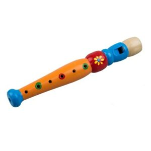1x-Wooden-Flute-Toy-Kids-Music-Educational-Toy-Random-Color-Y1U1