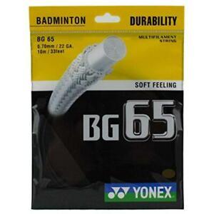 Yonex-BG65-Badminton-Racquet-String-0-70MM-22-GA-10m-33feet