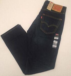 NWT-Levi-039-s-511-Herren-Slim-Fit-Stretch-Dark-Blue-Jeans-Faded
