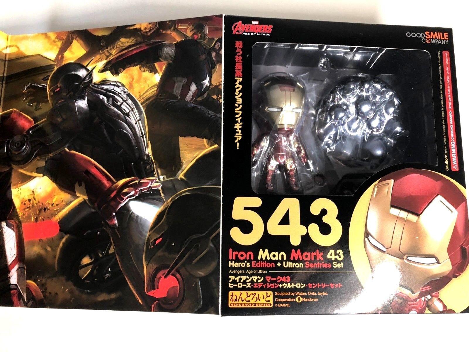 Free Shipping Nendgoldid Avengers Age of Ultron Iron Man 43 Ultronset 543 IRONMAN
