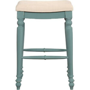 Fabulous Details About Linon Marino Blue Backless Counter Stool 25 5 Hight Machost Co Dining Chair Design Ideas Machostcouk