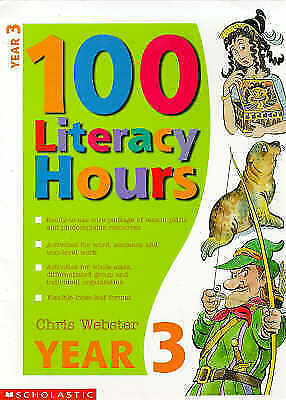 """AS NEW"" Webster, Chris, One Hundred Literacy Hours: Year 3, Paperback Book"
