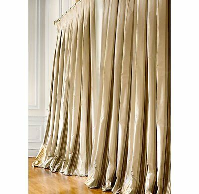 Restoration Hardware Silk Taffeta Multi Stripe Drapery