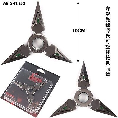 Stylish NEW Overwatch Mini Tri Point Dark Grey Green Shuriken Manual Spinner