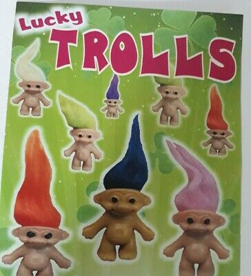 mini figure retro lucky troll doll toy cute surprise blindbag