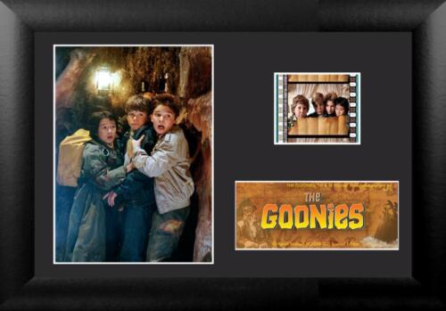 """THE GOONIES 1985 Adventure Comedy FRAMED MOVIE PHOTO and FILM CELL 5/"""" x 7/"""" New"""