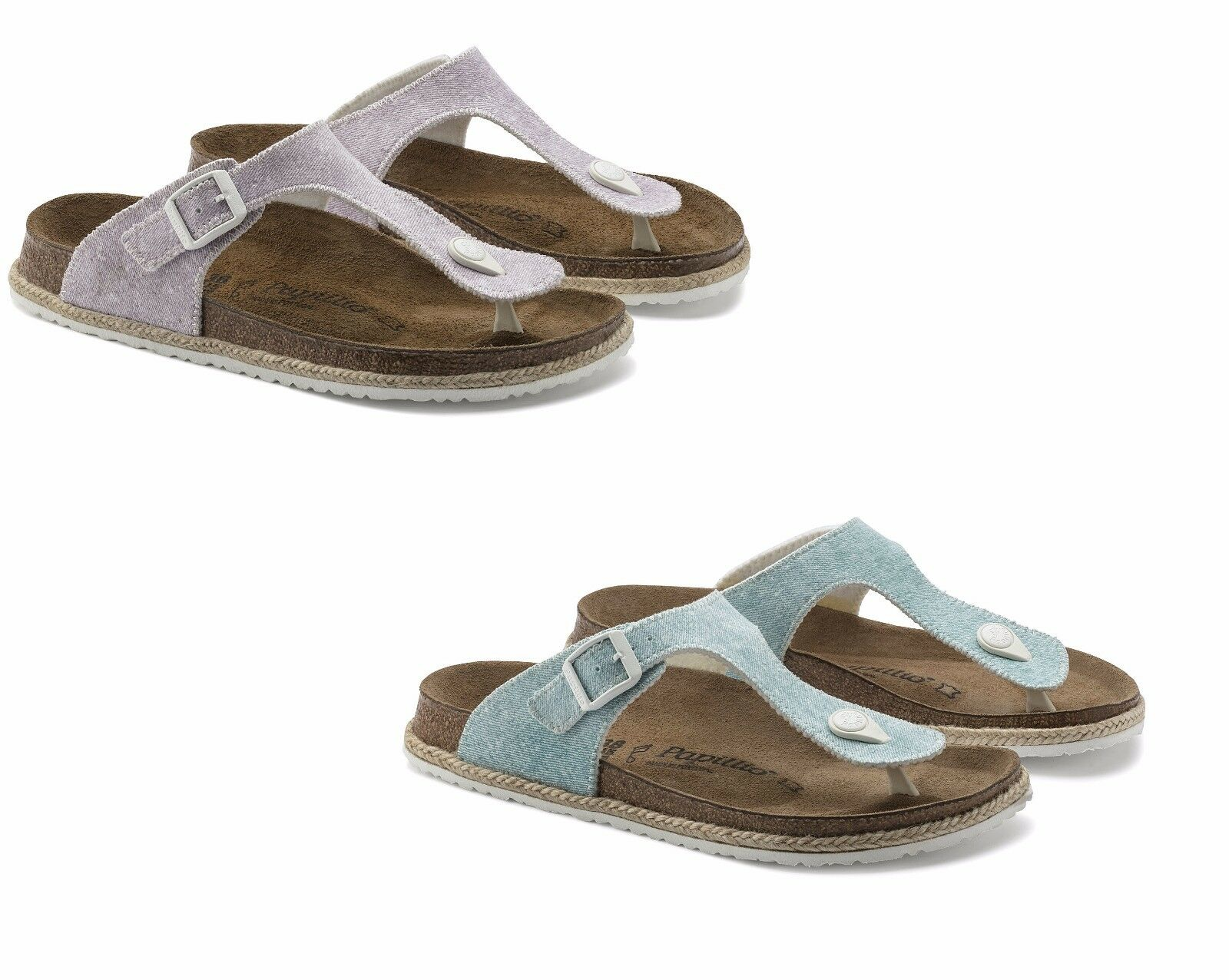 BIRKENSTOCK PAPILLIO GIZEH BEACH Damens'S LIGHT GREY PURPLE Blau Damens'S BEACH THONGS SANDALS 697bdc