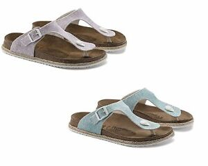 3b7c744a62d Image is loading BIRKENSTOCK-PAPILLIO-GIZEH-BEACH-LIGHT-GREY-PURPLE-BLUE-