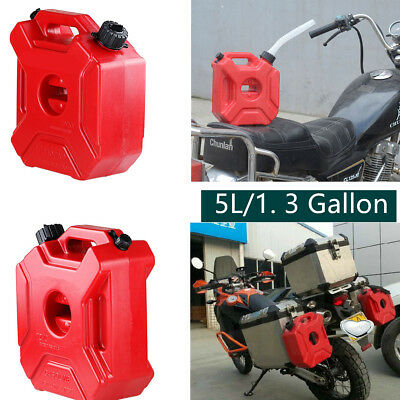 Mounting Kit 5L Universal 3 Litre Fuel Tank Jerry Cans Spare Plastic Petrol Tanks ATV Jerrycan Mount Motorcycle Car Gas Can Gasoline Oil Container Fuel-jugs w//Lock