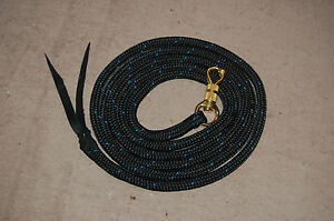 10-039-LEAD-ROPE-w-PARELLI-SNAP-FOR-NATURAL-HORSE-TRAINING-MANY-COLORS-AVAILABLE