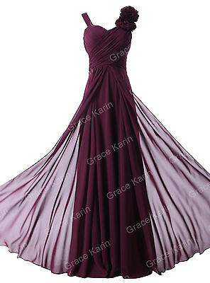 Sexy Bridesmaid Formal Evening Prom Gown Ball Party Homecoming Maxi Dress 2 4 6+