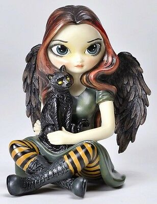 BIG EYES SCARE CROW FAIRY STATUE.LARGE LICENSED JASMINE BECKET-GRIFFITH FIGURINE