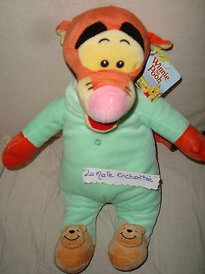 Plüschtier Kuscheltuch WINNIE POOH Tigger Pyjama 36 cm Disney Neu