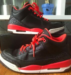 hot sale online 83f9a 3d58b Details about NIKE AIR JORDAN III 3 RETRO CRIMSON RED/BLACK MEN'S SIZE 9  136064-005