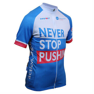 Action Medical Research Charity Cycling Jersey - Never Stop Pushing