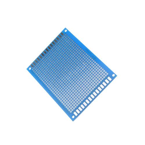 2PCS 7x9 cm Single Side Prototype PCB Tinned Universal Breadboard 70mmx90mm FR4