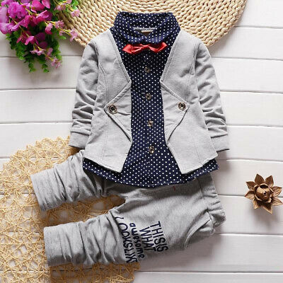 Autumn Kids Clothing Sets Baby Boys Outfits Children Boy Formal Clothes Suits