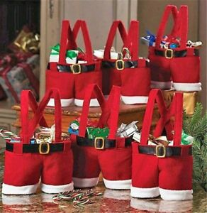 Red santa Christmas decorative pants ideal candy bags 1 piece - Oldham, United Kingdom - Red santa Christmas decorative pants ideal candy bags 1 piece - Oldham, United Kingdom