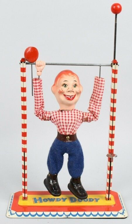 Vintage Howdy Doody Acrobat Estaño Wind-up de Arnold 1950s Alemania Occidental