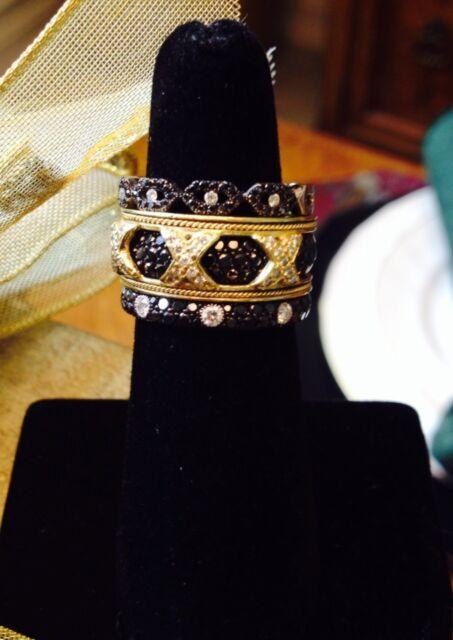 Hidalgo Interchangeable Ring 18K Yellow Gold Jacket 3 XXX with Diamonds;  Size 7