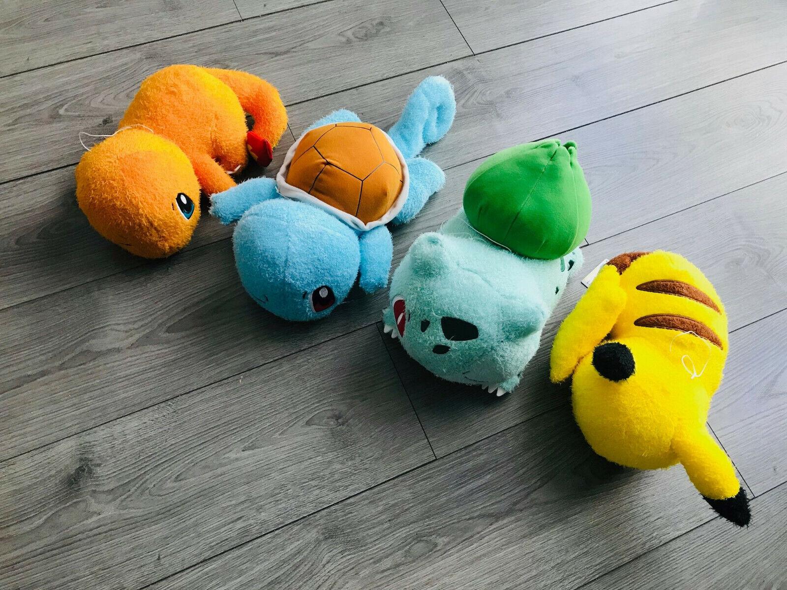 RARE peluche   plush starters pokemon pack Pikachu Charmander Squirtle Bulbasaur