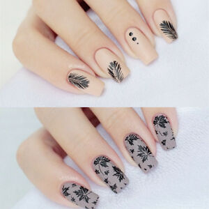 Round Nail Art Stamping Plates Manicure Print Template Plate Leaves