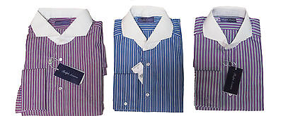 $495 Ralph Lauren Purple Label Italy Mens Solid French Keaton Dress Shirt New
