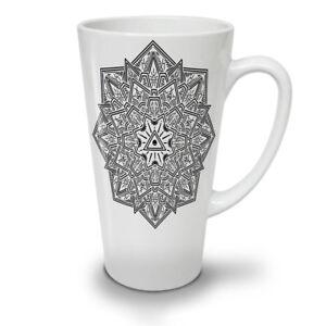 Mandala Art NEW White Tea Coffee Latte Mug 12 17 oz | Wellcoda