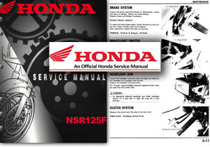 honda nsr125f service workshop repair shop manual nsr125 f jc20 nsr rh ebay com Honda Motorcycles 125Cc Honda NSR 125 1998