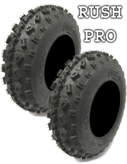 - Rush Pro 1F Front ATV MX Tires 21x7x10-6 Ply x2 200 Sawtooth Pair New