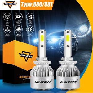 AUXBEAM 880//881 LED Headlight Bulbs Fog Light Kit 72W 8000LM 6000K Xenon White