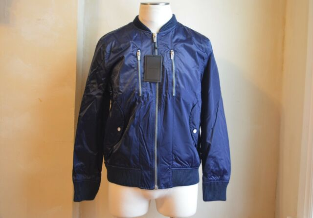 e4c825dd37d97d Zara Man Dark Blue Zippered Windbreaker Bomber Jacket S XL 42 Very Cool  Nylon for sale online