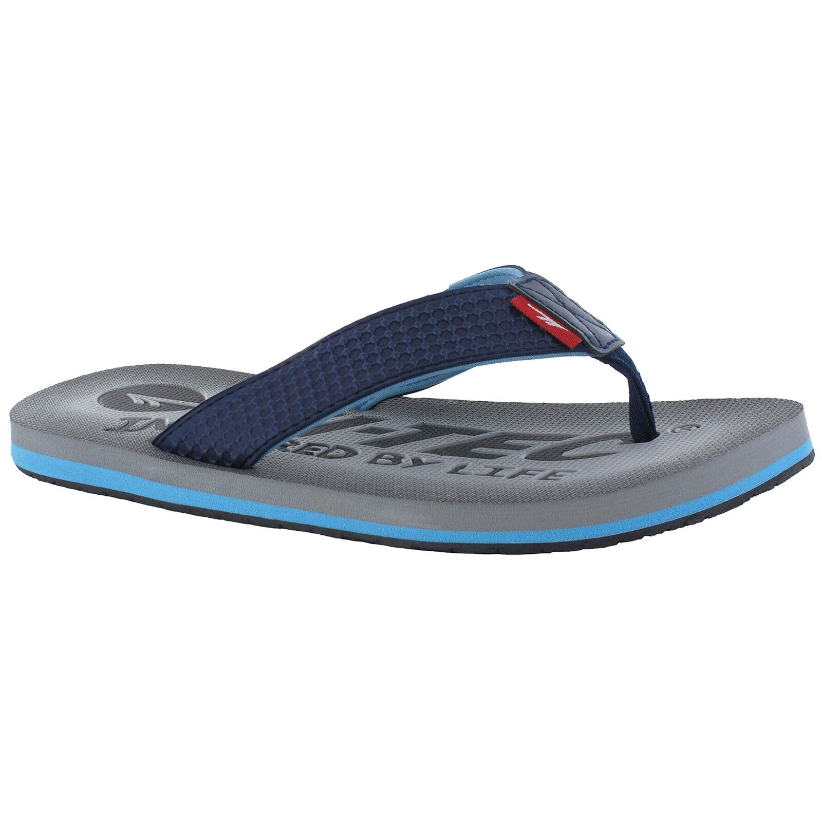 c2d09984cabb Hi-Tec Shadow Thong Mens Navy blue Logo Print Slip on Toe Post T Bar Sandals  UK 11 for sale online
