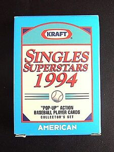 1994 KRAFT SINGLES SUPERSTARS A.L. SET GRIFFEY JRTHOMAS, RIPKEN JR., AND MORE!