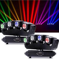 2PCS RGBW 80W Beam LED 4x Moving Head Stage Light DMX DJ Disco Party Lighting
