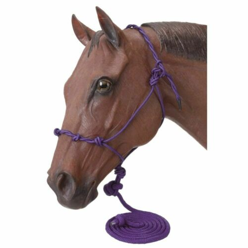 Tough 1 Rope Knotted Horse Training Halter with 14 feet Lead Rope