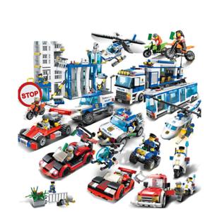 Baustein GUDI Stadt Polizeiwagen Polizeistelle Mobile Hubschrauber Verbrecher