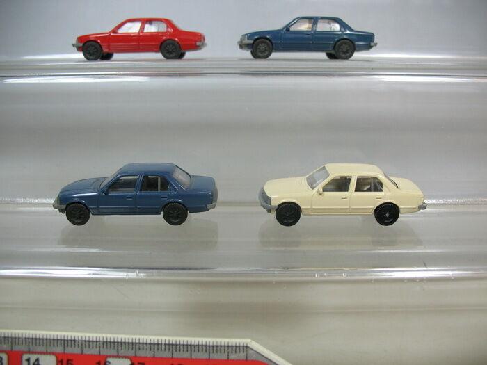 S854-0, 5 x Fleischmann H0 Modelos  Opel Record