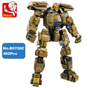 Sluban-Bausteine-Pacific-Rim-Phoenix-Jaeger-Armed-Roboter-Spielzeug-482PCS