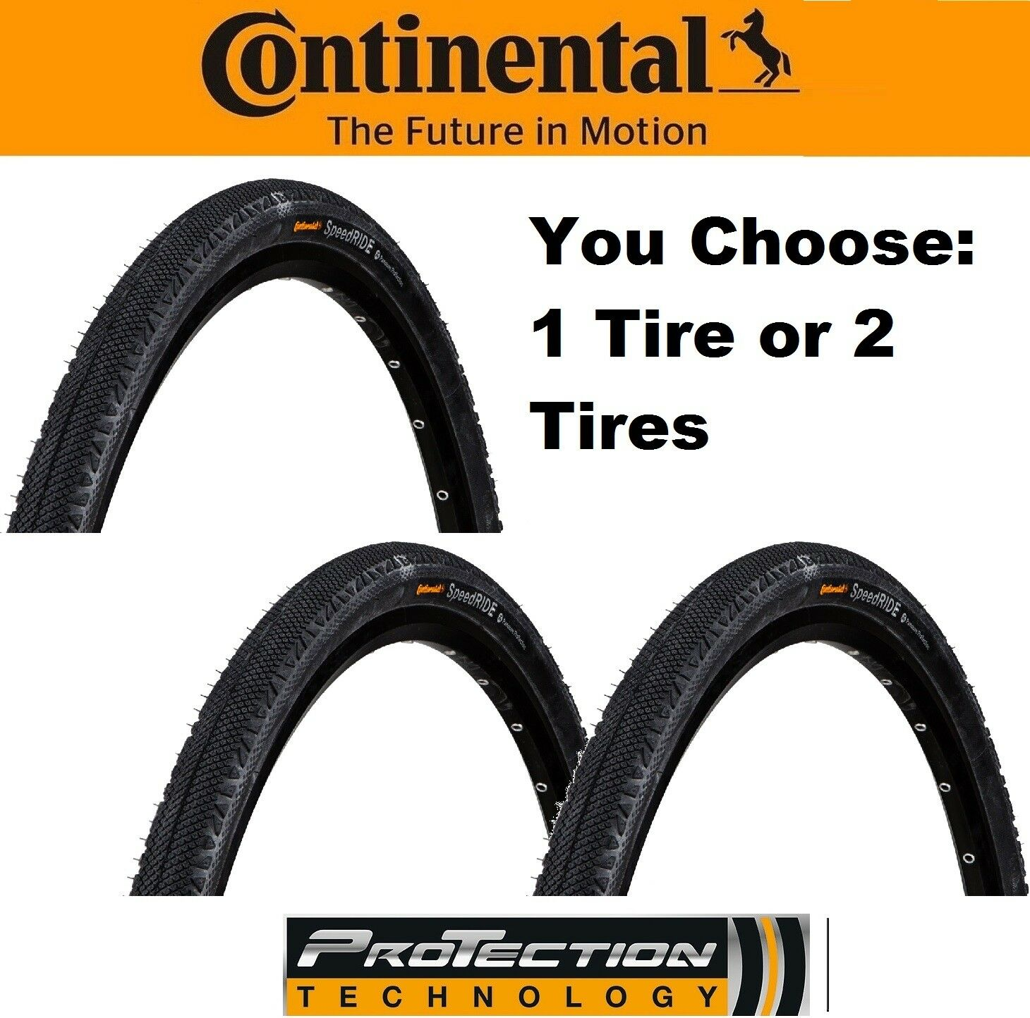 1 or 2Pak Continental Speed Ride 700x42 Flat ProTection  Fold Bike Tire 29  x1.6  best price