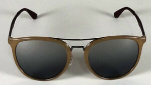 af0a086d6ae RAY BAN METAL DOUBLE BRIDGED LIGHT BROWN GREY MIRRORED SUNGLASSES ...