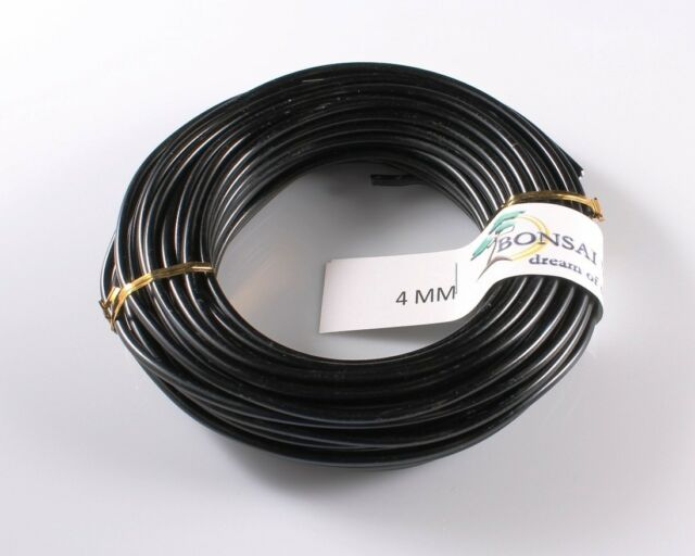 4  MM BLACK ANODIZED  ALUMINIUM TRAINING WIRE 500 GRAM ROLL