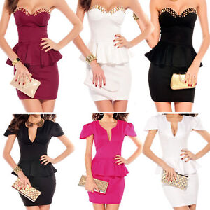Ladies-Sexy-Mini-Dress-Cocktail-Evening-Dress-Clubbing-Dress-Size-8-10-12-14