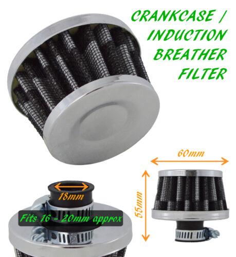 UNIVERSAL OIL MINI BREATHER AIR FILTER FUEL CRANKCASE UN1108-18 MM-Saab