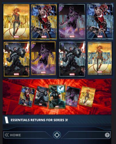 argent Sets Essentials série 3-or 8 cartes-Topps marvel recueillir Digital