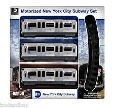 NYC New York City MTA R160 Motorized Subway A Train Set With Track New