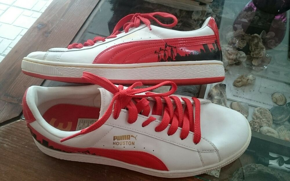 Puma Originals Houston Retro Baskets Special Edition blanc rouge Collector 345237-