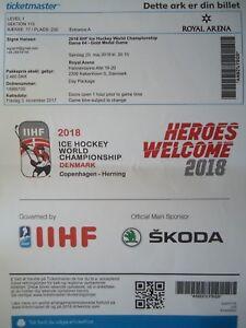 Sport VIP Band Eishockey WM Finale 20.5.2018 Schweden Memorabilia Schweiz Spiel 64