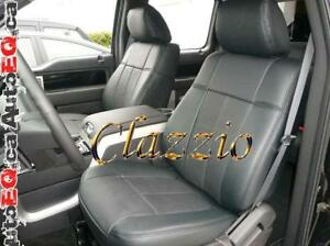 Clazzio Synthetic Leather Seat Covers (Front + Rear Rows) | 2015-2020 Ford F150 Canada Preview